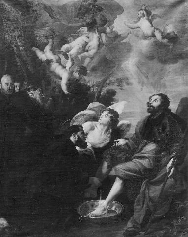 St.-Augustinus wast de voeten van Christus