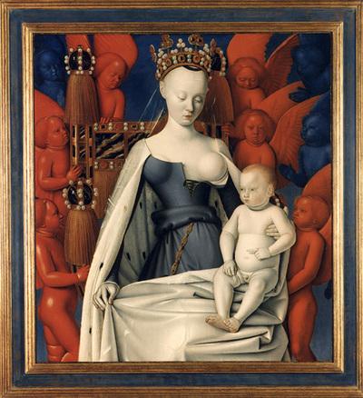 Maria en Jezus, omgeven door seraphijnen en cherubijnen