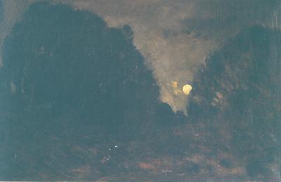 Maanopkomst (Nachteffect te Barbizon)