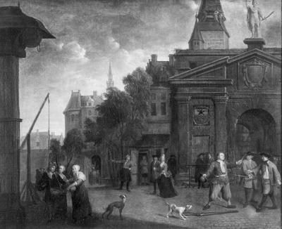 Straattoneel op de Werf te Antwerpen nabij het Kranenhoofd
