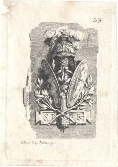 Trophäe, Blatt 33 aus einer Folge