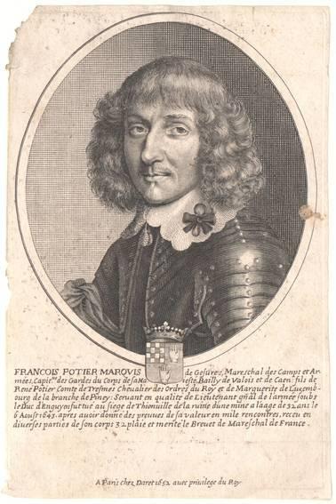 Portrait von Francois Portier, herausgegeben von Daret