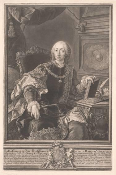 Bildnis des Fürsten Kaunitz im Toisonornat, nach Martin van Meytens