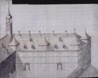 Image from object titled Ansicht des geplanten rechten Gebäudeflügels des Schlosses Backnang (53 x 66 cm)