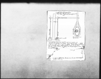 """Image from object titled Schematische Darstellung des Pumpwerks (""""Wasserkunst"""") für das Wasser zum Schlossbrunnen, 1606 von Johann (=Hans) Kretzmaier angefertigt, mit Erläuterungen, Maßangaben, Bezahlung Kretzmaiers, Vermerk Schickhardts über die Einzigartigkeit der Anlage für Italien, Frankreich und Deutschland, Skizze der Höhenunterschiede und Länge der Wasserführung vom Tal zum """"Schloß Hellenstein"""" (Folio)"""