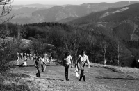 Image from object titled Spaziergänger auf dem Weg zum Schauinslandgipfel