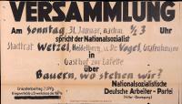 Image from object titled Versammlung der NSDAP-Ortsgruppe Hinterzarten: Bauern, wo stehen wir? (in Titisee)