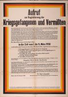 Image from object titled Zur Registrierung der Kriegsgefangenen und Vermissten, Bundesvertriebenenministerium