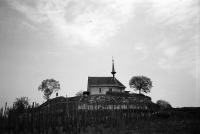 Image from object titled Munzingen: Kappelle auf dem Tuniberg, Ehrentrudiskapelle, Kapelle von unten