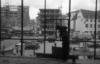 Image from object titled Stuttgart: Ausblick auf Marktplatz, vom Glashaus im Bau