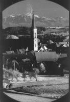 Image from object titled Löffingen: Blick vom Turm der Wallfahrtskirche auf Witterschnee mit Alpenhintergrund