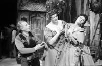 "Image from object titled Basel, Schweiz: Stadttheater Basel; Welturaufführung ""Titus Feuerfuchs"", Heinrich Sutermeister; Ingeborg Federer, Herta Schomburg"