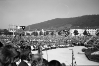 Image from object titled Freiburg: Messe auf dem Podium