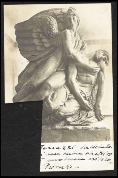 Cartolina inviata da Andreotti a De Carolis