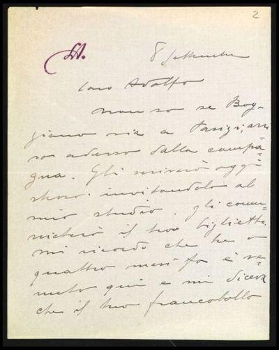 Lettera di Andreotti a De Carolis