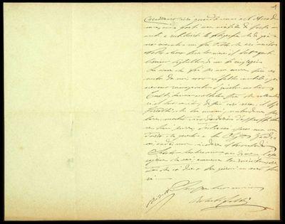 Lettera di R. Fabbri a De Carolis