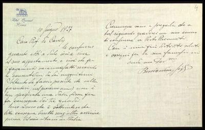 Lettera di Gigli a De Carolis