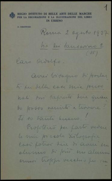 Lettera di Terzi a De Carolis