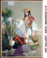 Ελληνίδες στην βρύση - Greek women in a water fountain