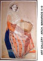 Ελληνίδα χωρική με το καλάθι της - Greek peasant woman with a basket