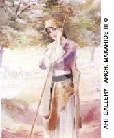 Βοσκοπούλα της Αρκαδίας - A shepherdess of Arcadia