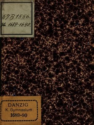 Image from object titled Disputatio Juridica De OBLIGATIONE STUDIOSI STIPENDIARII : Ad Specimen Eruditionis edendum. Quam In Inclyto Gedanen. Athenaeo / PRAESIDE DN. JOHANNE SCHULTZIO, J. U. D. Ejusdem & Histor. P. P. ut & dicti Athenaei inspectore Fautore [et] Praeceptore suo aetatem devenerando, In Auditorio Maximo Horis matutinis Anno M. DC. LXXXX.D.XIV. Septembr. Solenniori Disquisitioni exponet MICHAEL PAULI, Gedan. Alumnus hactenus Oelhafian