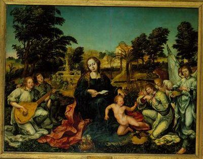 A Virgem, o Menino e Anjos