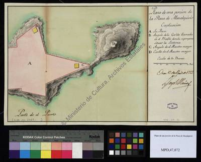 Plano de una porción de la Plaza de Mazalquivir [Material cartográfico]