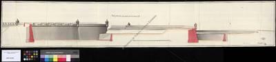Perfil y elevación del proyecto de fortificación realizado como exámen [Material gráfico no proyectable]