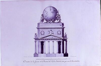 Ornato de la fuente de la Puerta del Sol de Madrid
