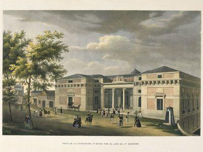 Museo del Prado. Fachada norte