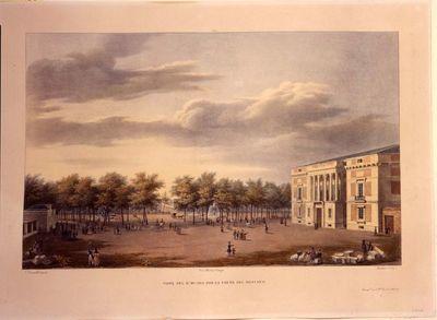 Vista del Real Museo por la parte del Botánico