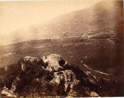 El Escorial, vista desde la entrada del pueblo