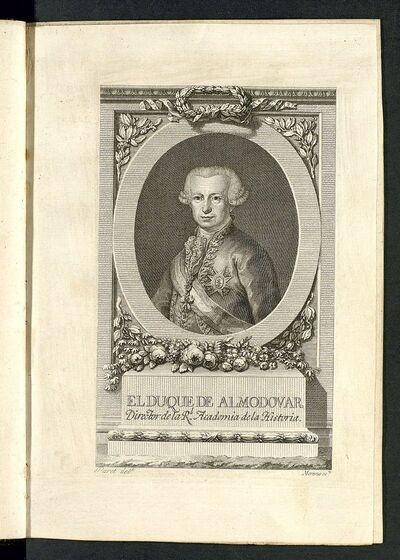 Retrato del Duque de Almodovar, director de la Real Academia de la Historia