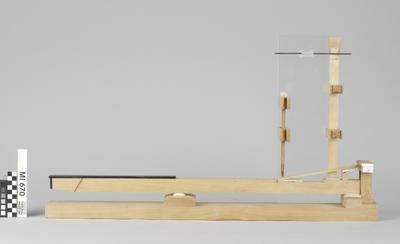 Modell einer Tangentenflügelmechanik nach Christoph Friedrich Schmahl