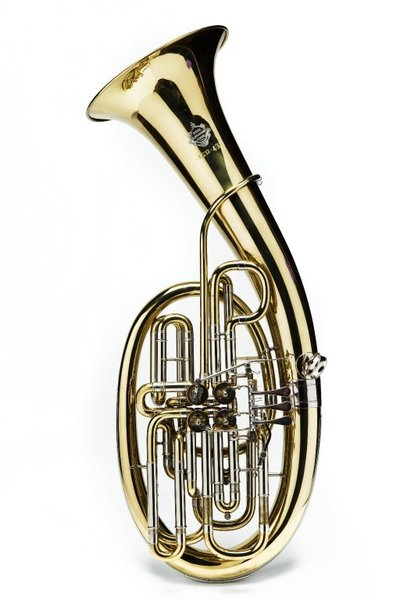 Image from object titled Wagner Tuba. Nominal pitch: 9-ft B?+ 12-ft F.