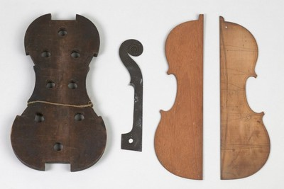 Image from object titled Template for violin neck.