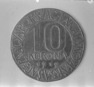 A Tanácsköztársaság 10 koronás pénzének terve