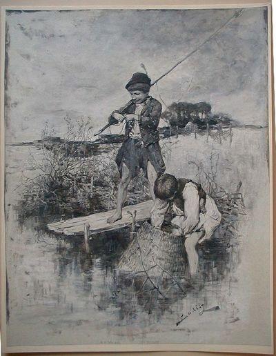 Halászfiúk a Kis Rábán