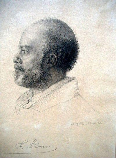 Schimon Ferdinand festő arcképe