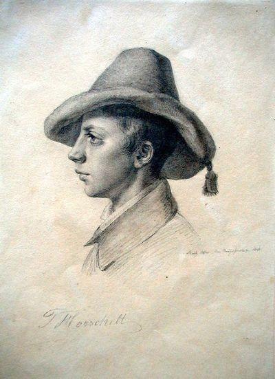 Theodor Horschelt festő arcképe