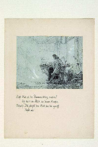 Faust illusztráció III. Faust találkozása a Föld szellemével.