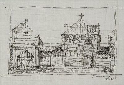 Táj - Házak kerítéssel