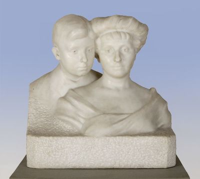Rupcsics Györgyné és fia