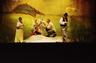 foto, negatiiv, Nukuteater, Nukitsamees, 2004, kunstnik Riina Degtjarenko, lavastaja Andres Dvinjaninov, Isa - Hendrik Toompere, Kusti - Taavi Tõnisson, Iti - Lee Trei, Ema - Tiina Tõnis
