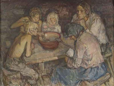 Teomehe pere lõunalauas
