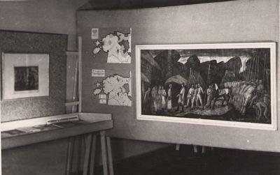 Foto  Kr  Raua maal KALEV KOSJAS, Tartu Kunstnike Majas 1961