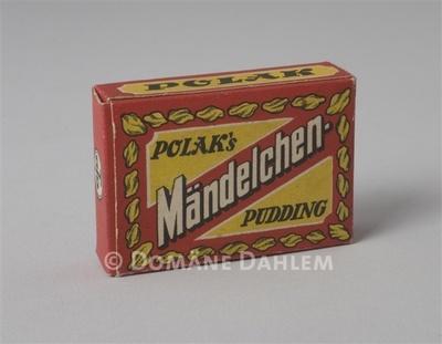 """Miniatur-Schachtel """"Polak's Mändelchen-Pudding"""""""