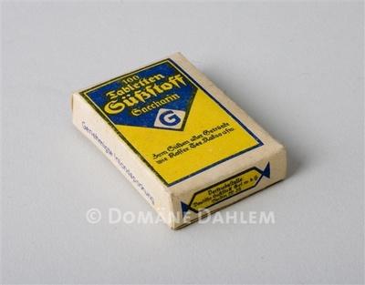 """Schachtel """"Süßstoff Saccharin"""""""