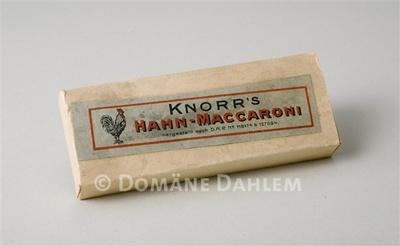 "Miniatur-Schachtel ""Knorr's Hahn-Maccaroni"""